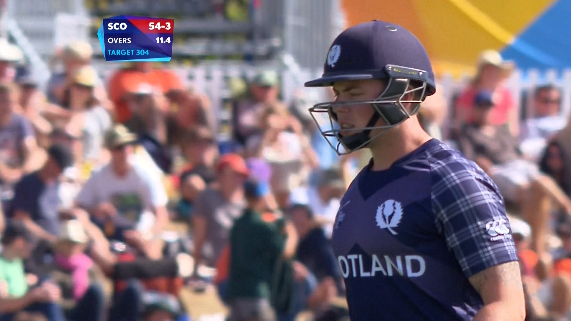 Matt Machan Wicket – ENG vs SCO