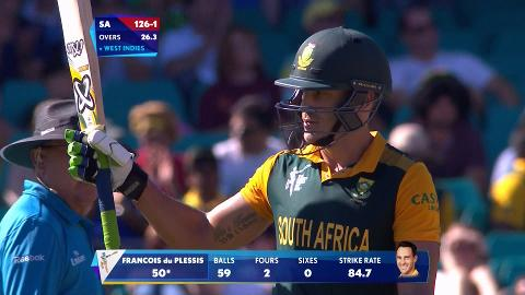 Du Plessis, 62 vs West Indies