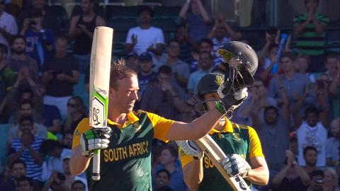 AB de Villiers fastest ever 150 at World Cup v West Indies