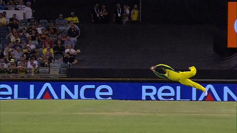 Aaron Finch's brilliant diving catch