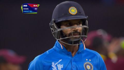 Shikhar Dhawan Wicket – IND vs WI