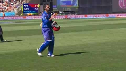 Javed Ahmadi Wicket – AFG vs NZ