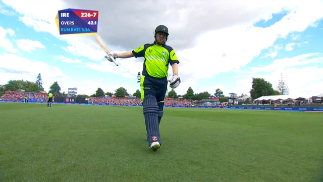 Niall O'Brien Wicket – IND vs IRE