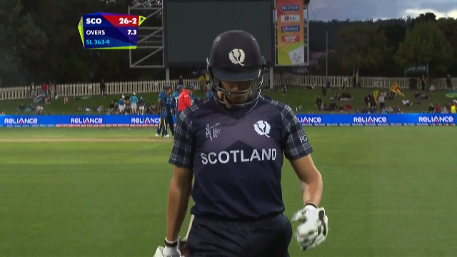 Calum MacLeod Wicket – SL vs SCO