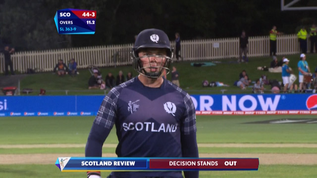 Matt Machan Wicket – SL vs SCO