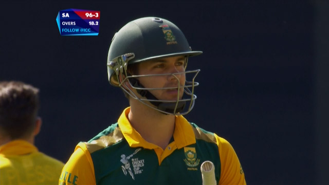 Rilee Rossouw Wicket – SA vs UAE