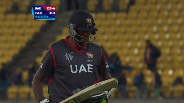 Amjad Javed Wicket – SA vs UAE
