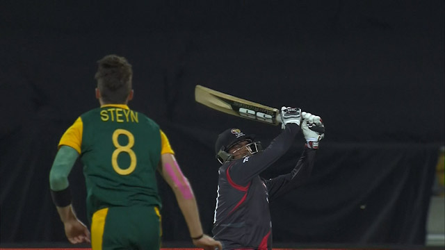 Naveed Smashes Steyn For 93 Metre Six!