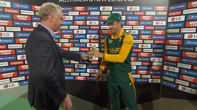 Player of the Match – AB de Villiers