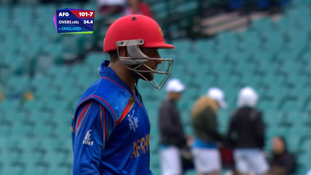 Shafiqullah Shafiq Wicket – ENG vs AFG