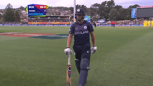 Calum MacLeod Wicket – AUS vs SCO