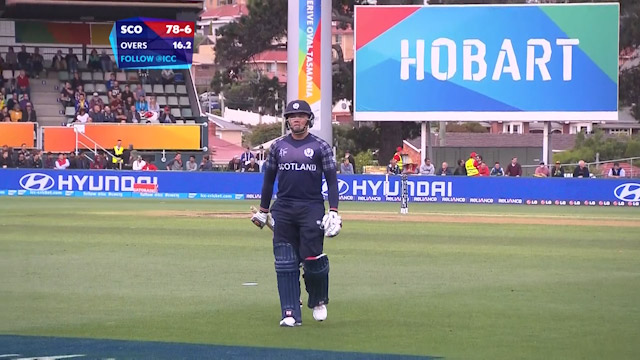 Matt Machan Wicket – AUS vs SCO