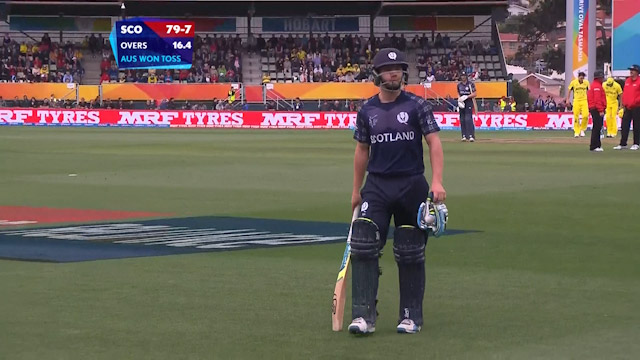 Matthew Cross Wicket – AUS vs SCO