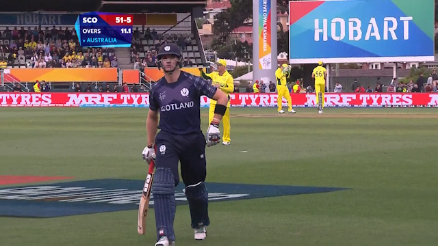 Richie Berrington Wicket – AUS vs SCO