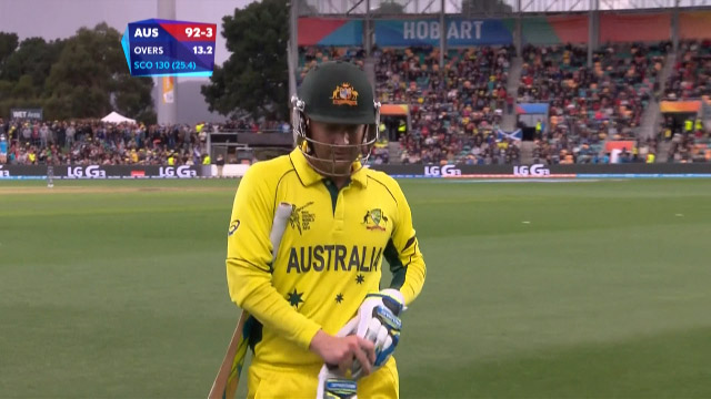 Michael Clarke Wicket – AUS vs SCO