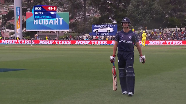 Rob Taylor Wicket – AUS vs SCO
