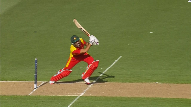 Raza Hits A Big Six Over Cover