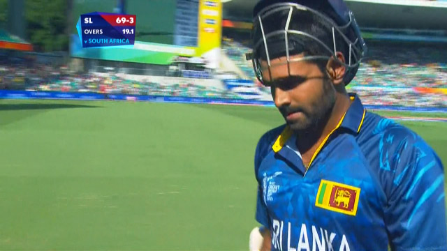 Sri Lanka innings wickets