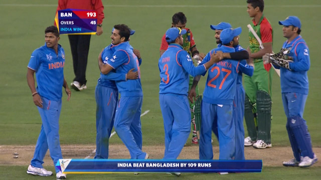 India v Bangladesh Match Highlights CWC Quarter-Final
