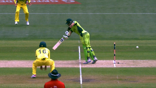 Misbah-Ul-Haq's lucky escape at CWC15