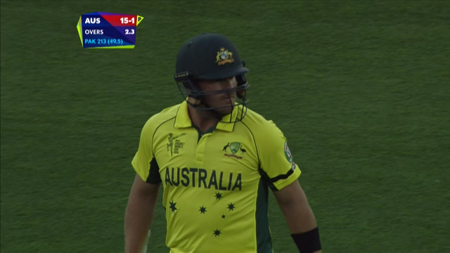Aaron Finch Wicket – AUS vs PAK