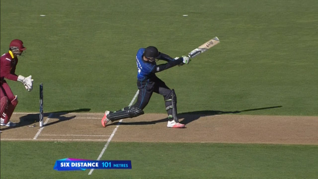 Martin Guptill Smashes 101 Metre Six!