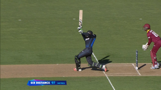 Guptill Launches Straight 97 Metre Six!