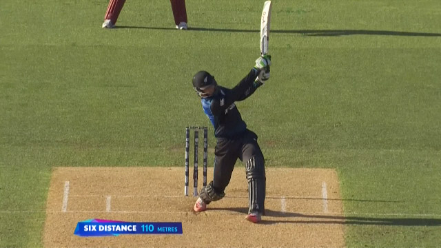 Martin Guptill hits biggest six of Cricket World Cup