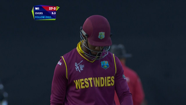 Lendl Simmons Wicket – WI vs NZ