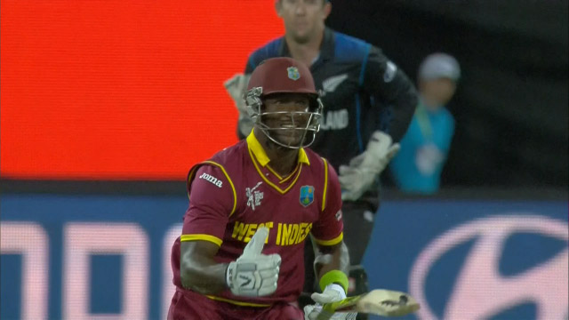 Darren Sammy's hillarious diving at World Cup