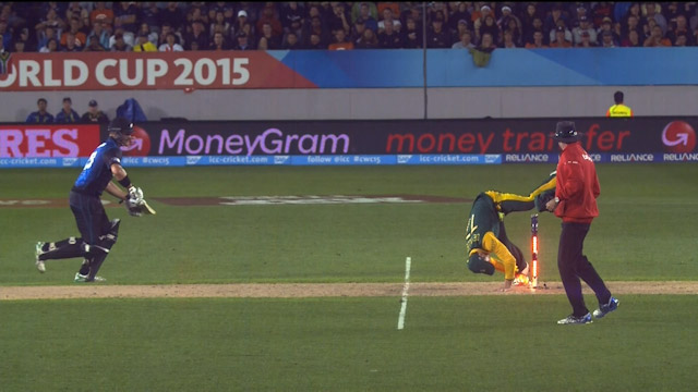 Anderson Run Out Close Call !