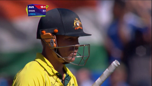 David Warner Wicket – IND vs AUS