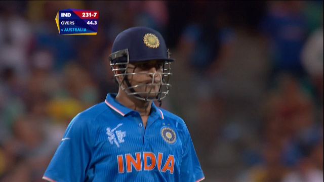 MS Dhoni Wicket – IND vs AUS