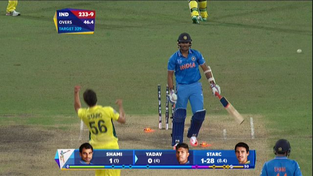 Umesh Yadav Wicket – IND vs AUS