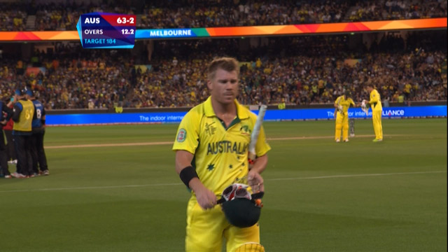 David Warner Wicket – AUS vs NZ