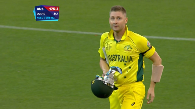 Michael Clarke Wicket – AUS vs NZ