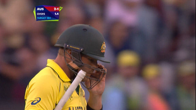 Aaron Finch Wicket – AUS vs NZ