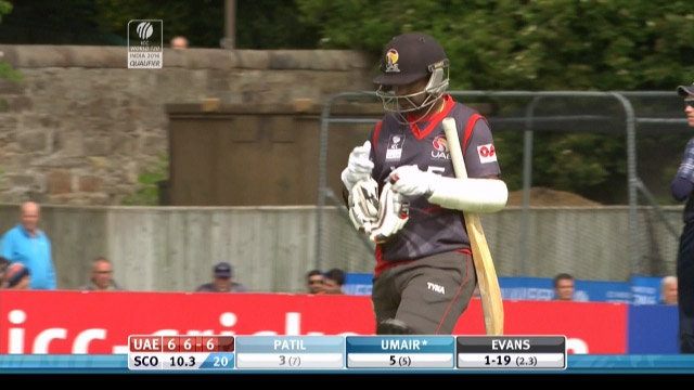 Swapnil Patil Wicket – SCO vs UAE