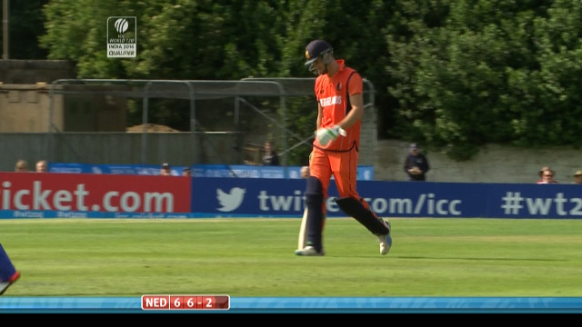 Ben Cooper Wicket – NED vs AFG