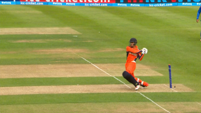 Michael Rippon Wicket – NED vs AFG