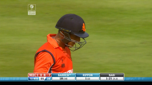 Wesley Barresi Wicket – NED vs AFG