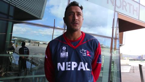 Paras Khadka ahead of WT20Q