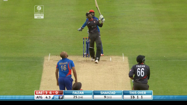 Mohammad Shahzad of UAE smashes massive 6!