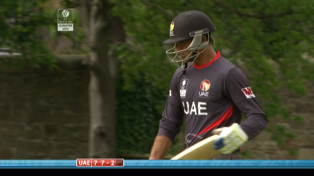 Mohammad Shahzad Wicket – UAE vs AFG