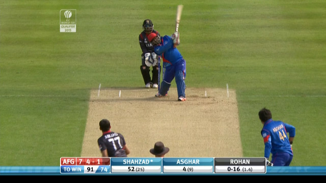 Mohammad Shahzad hits one out of the Ground!