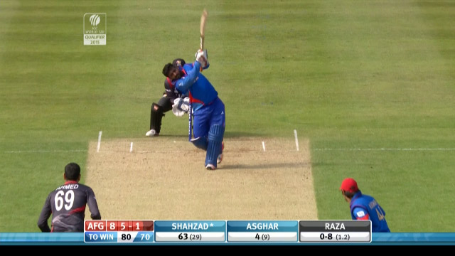 Shahzad of Afghanistan hits a monstrous Six!!