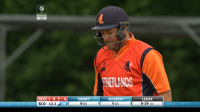 Michael Swart Wicket – SCO vs NED