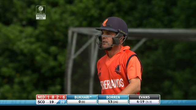 Peter Borren Wicket – SCO vs NED