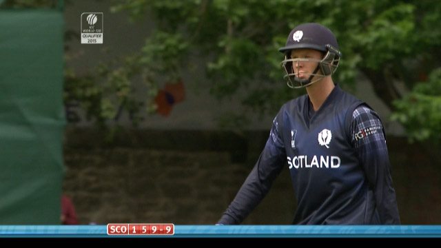 Alasdair Evans Wicket – SCO vs NED