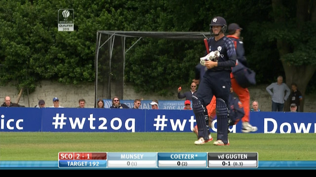 George Munsey Wicket – SCO vs NED
